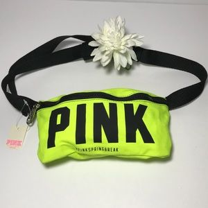PINK Victoria's Secret Neon Green Belt Bag NEW!